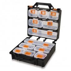 Valigia organizer con 12 vaschette asportabili