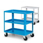 Carrello da lavoro a 3 vasche IDEAONE Fami - blu - 904 x 515 x 820 mm