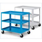 Carrello da lavoro a 3 vasche IDEAONE Fami - blu - 1024 × 615 × 847 mm